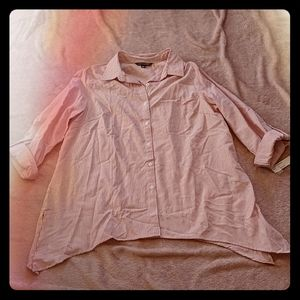 NWT Zac and Rachel Red and White Striped Blouse